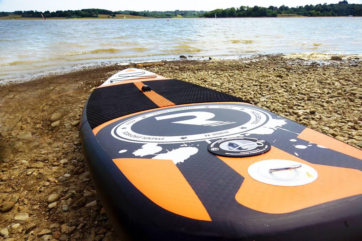 Riber SUP board lying on the ground