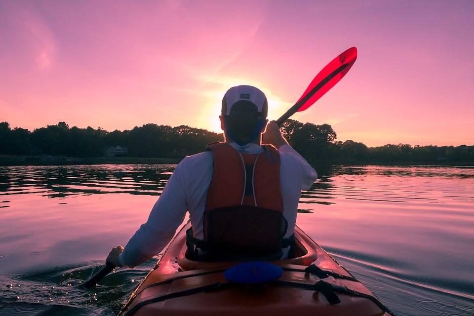 person on a kayak