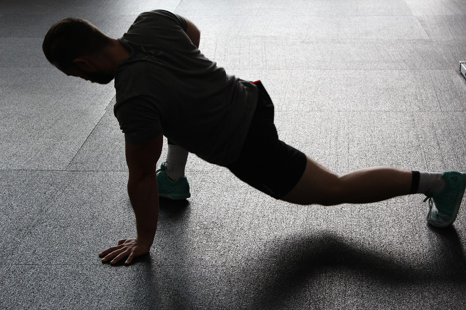 person stretching